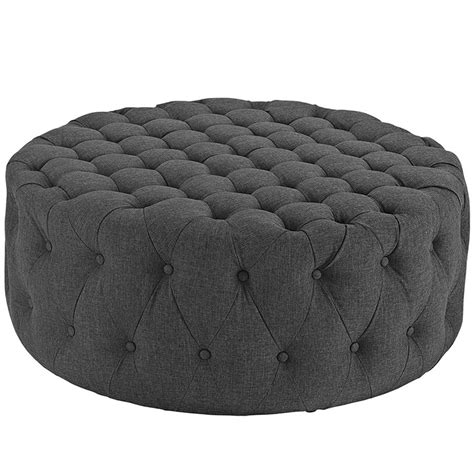 round tufted cocktail ottoman large round coffee table cocktail ottoman button tufted 14