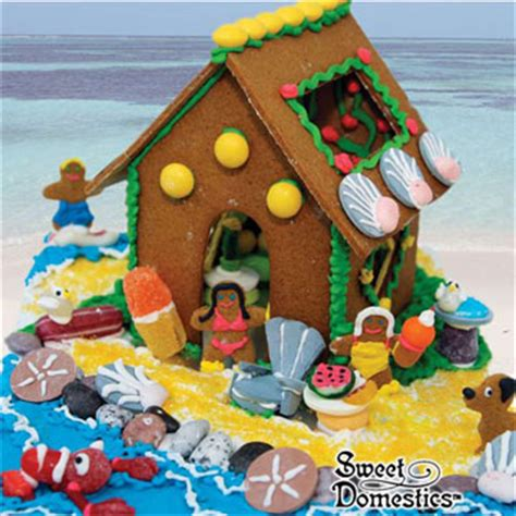 gingerbread beach house summer gingerbread house kit