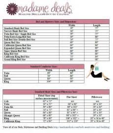 Mattress Sizes Guide Bed And Mattress Size Chart Ruth Chu