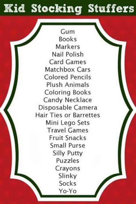 stocking stuffer stocking stuffers ideas for kids fun ideas christmas