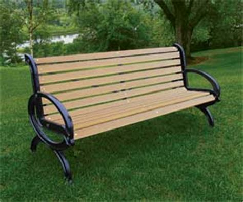 modern outdoor bench recycled plastic park benches