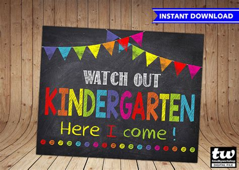 kindergarten full version free no download first day of kindergarten sign instant download first day of