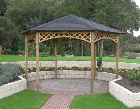 hexagon gazebo large hexagonal gazebo 4m diameter