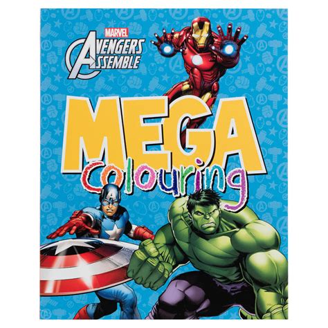 My Busy Book Marvel Avenger mega colouring books arts crafts books