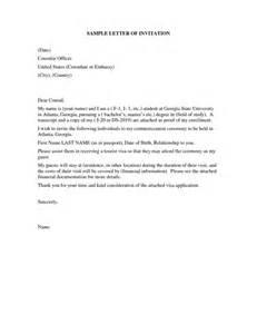 united states visitor visa letter sle letter of