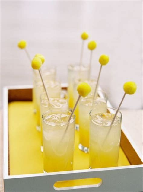 baby shower signature cocktail this sunny yellow baby