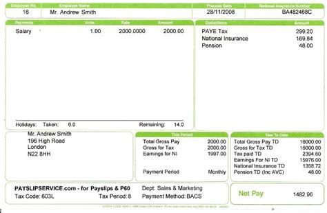 doc 640418 free payslip template uk bizdoska com