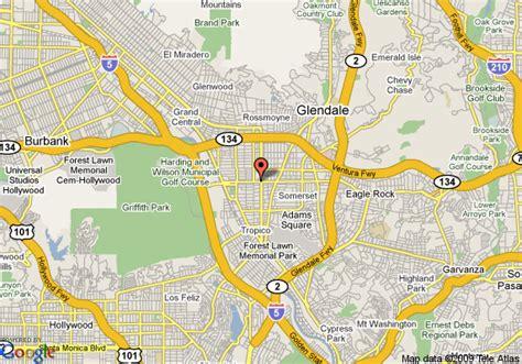 california map glendale map of vagabond inn glendale glendale