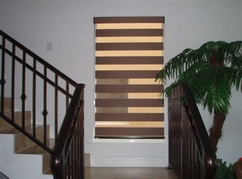 staircase window curtains roller shades traditional staircase miami by ford