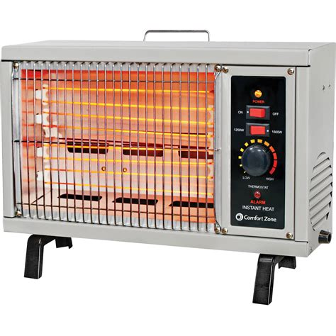 Comfort Zone Electric Radiant Heater Portable Personal