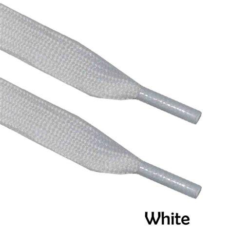 white thick flat shoe laces sport fancydress