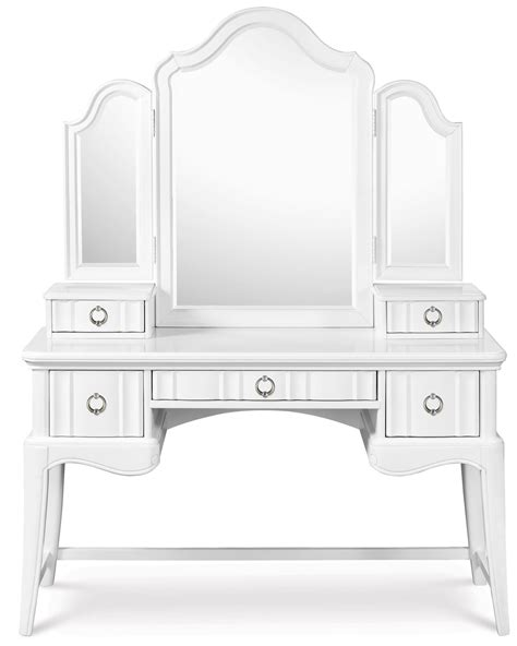 tri fold vanity mirror for bathroom useful reviews of gabrielle desk with vanity tri fold mirror from magnussen