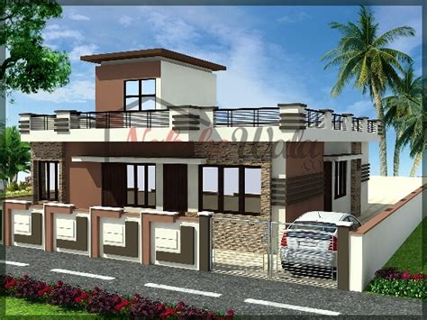 single story house elevation single storey elevation 3d front view for single floor