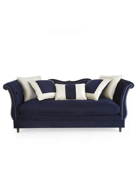 haute house quot horton quot navy velvet sofa