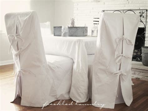 Slipcovers For Dining Room Chairs by Custom Chair Slipcovers Ribbons And Inspiration