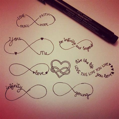 infinity symbol tattoos with names infinity symbol and design