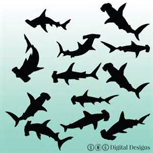 hammerhead shark silhouette 12 hammerhead shark silhouette digital clipart images clipart