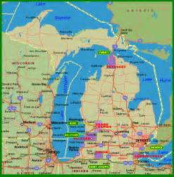Northern Michigan Map by Michigan Map