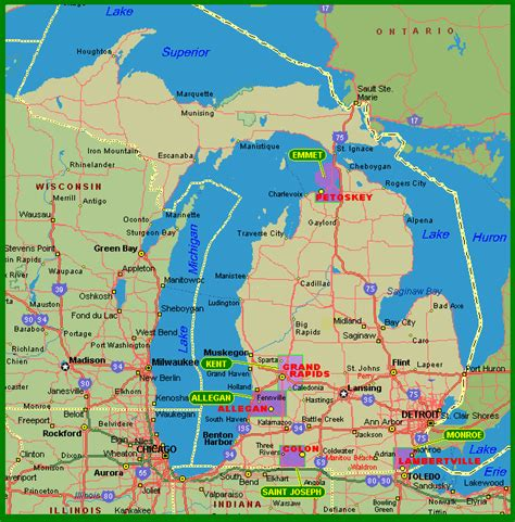mi map michigan map
