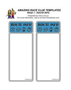 route card template scouts amazing race clues template so and easy they are