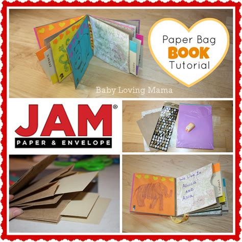 How To Make A Paper Book Bag - paper bag book craft tutorial with jam paper and envelope