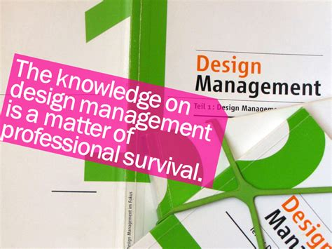 design management is why is the knowledge of design management important savić
