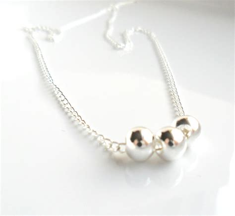geometric delicate necklace floating silver everyday