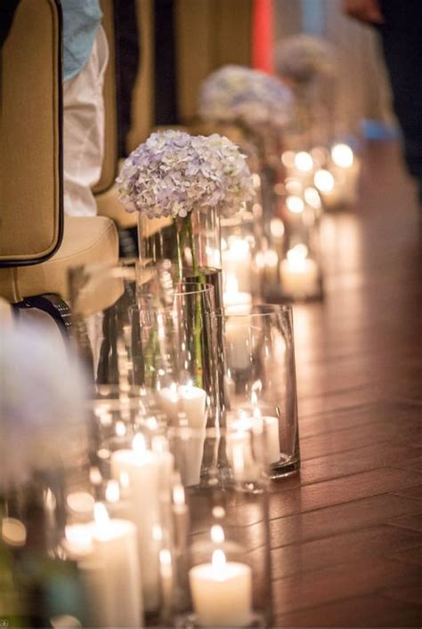 Wedding Aisle Candle Holders by Candlelit Wedding Ceremony Candles In Votives Lining
