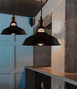 hanging ceiling lights for kitchen industrial retro vintage black pendant l kitchen bar