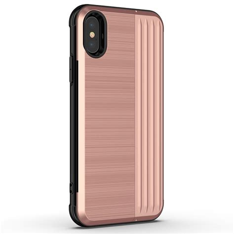 angibabe tpu pc protective for iphone xr with card slot and holder gold alexnld