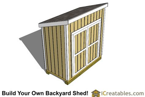 4x8 Lean To Shed by Outdoor Garden Shed Plans 4x8 Lean To Shed With High Side Door