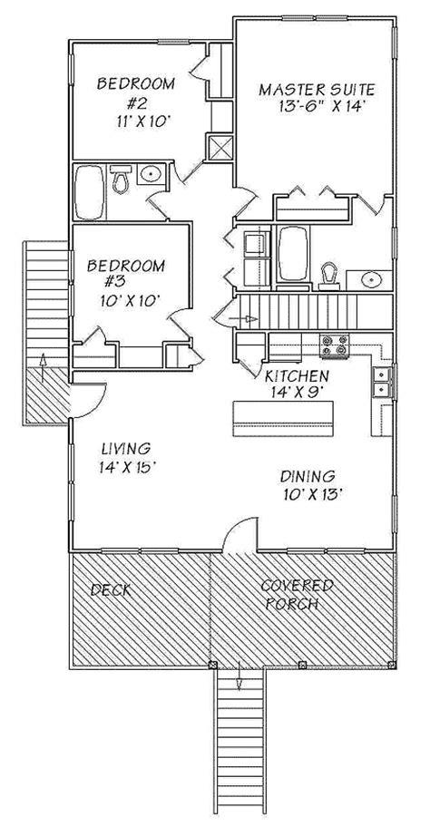 beach cabin floor plans narrow lot beach cottage 13095fl 1st floor master