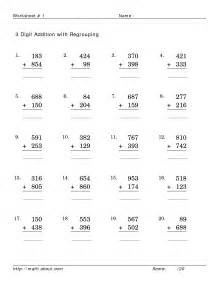 mixed addition and subtraction worksheets no regrouping