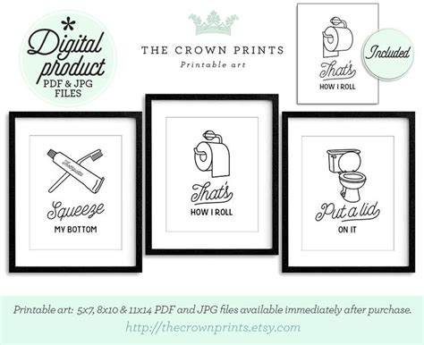 bathroom art printables 17 best images about bathroom on pinterest toilets