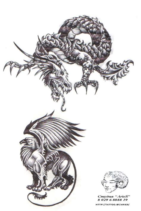demon dragon tattoo designs aries tattoo flash 03 jpg 787 215 1181 tattoos i