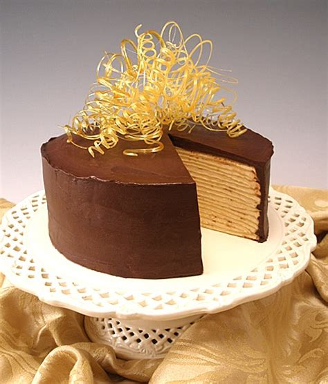 Mille Crepes Cake chocolate caramel mille crepes cake craftybaking