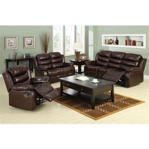 berkshire recliner furniture of america berkshire dark brown leatherette