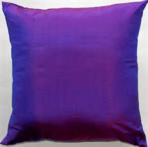 purple bed pillows violet purple throw pillow silk cushion cover 18 x 18