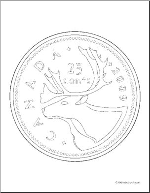 Coloring Page Quarter by Coloring Page Money Canadian Quarter Abcteach
