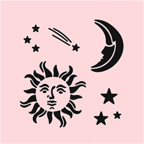celestial template celestial stencil sun moon stencils background