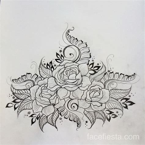 open rose tattoo henna baby bump