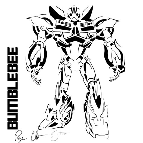 coloring page transformers bumblebee transformer coloring pages bestofcoloring com
