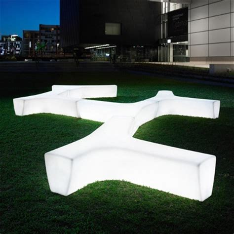 lighted bench tp twig led bench streetscapes