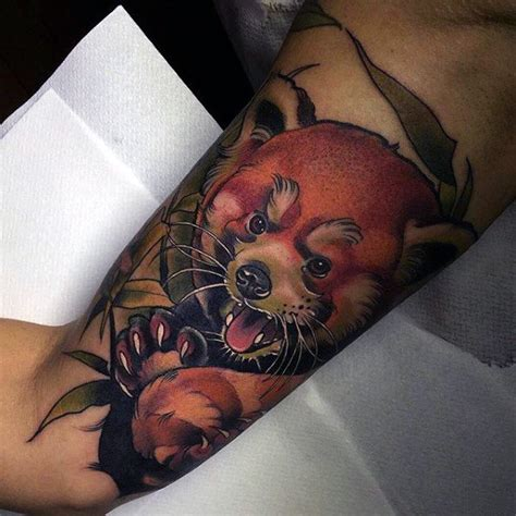 red panda tattoo 60 panda designs for animal ink ideas
