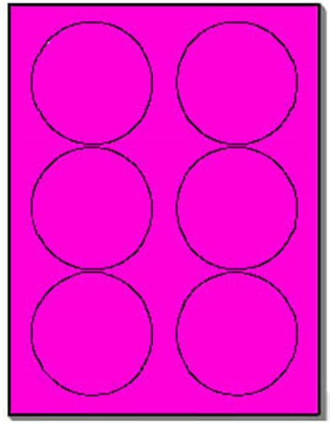 Avery 5295 Template by 120 Neon Labels 3 33 Inch Fluorescent Pink Stickers