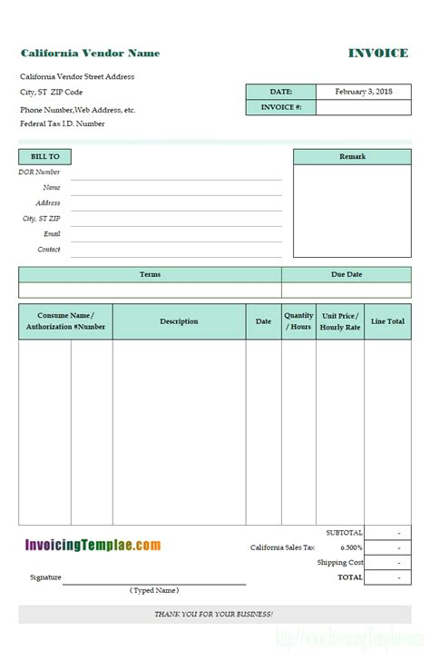 Caregiver Receipt Template by Invoice Template 1