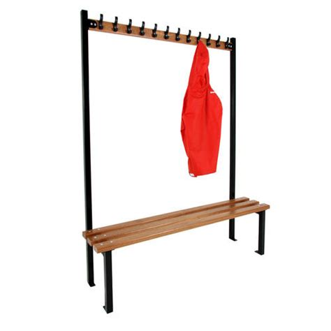 changing room benches with hooks single sided cloakroom benches with hooks various sizes