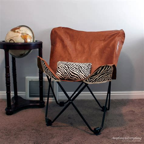 diy leather butterfly chair cover monthly diy challenge