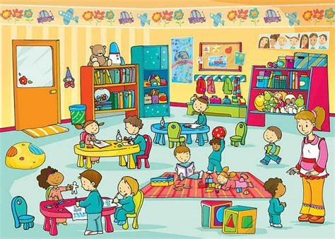 dibujo de preescolar para mi maestra dibujo de sala de preescolares imagui