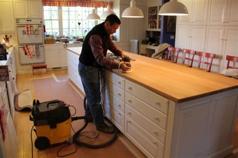 how to refinish a wood countertop
